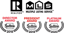 MLS - REALTOR - Sutton Director Award 2018 - Sutton President Award 2019